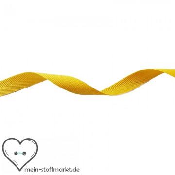Köperband Gelb 10mm 2m