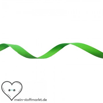 Köperband Grün 10mm 2m