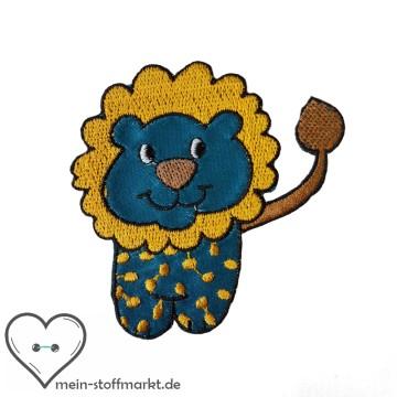 Aufnäher Patch Löwe Blau