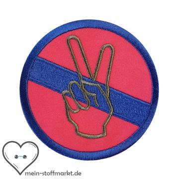 Aufnäher Patch Peace Blau/Pink/Grau