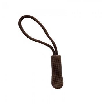 Zipper Reißverschluss-Anhänger Dunkelbraun