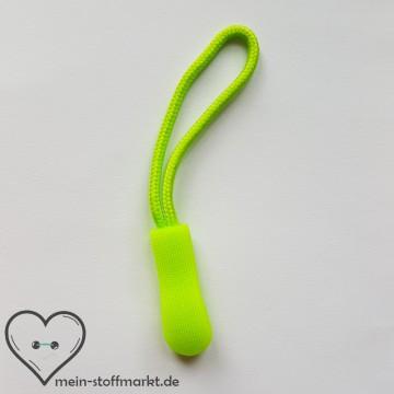 Zipper Reißverschluss-Anhänger Neongrün