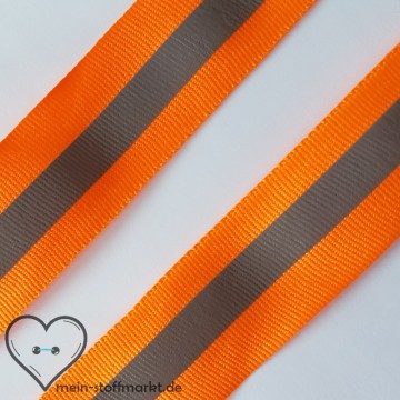Reflektorband Orange 30mm x 1m