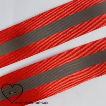 Reflektorband Rot 30mm x 1m