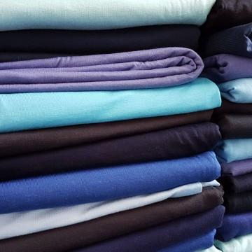 Ü-Stoffpaket Jersey Viskose/Elastan Blautöne