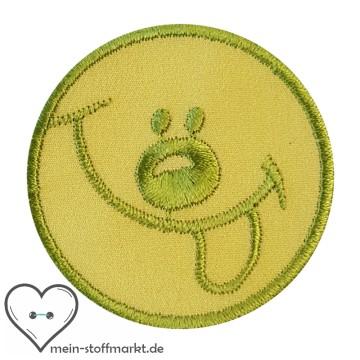 Aufnäher Patch Smiley Hellgrün/Gelb
