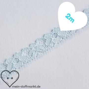 Spitze elastisch Hellblau 12mm x 2m