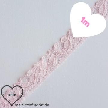 Spitze elastisch Rosa 12mm x 1m