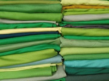 Ü-Stoffpaket Jersey Viskose/Elastan Grün Gelb