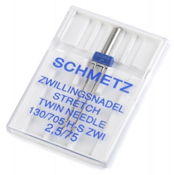 Zwillingsnadel Stretch 75 130 / 705 H 2,5mm